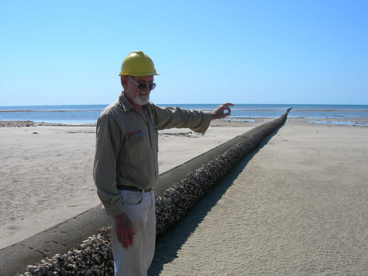 Environmental inspections with Harry Butler on Barrow Island